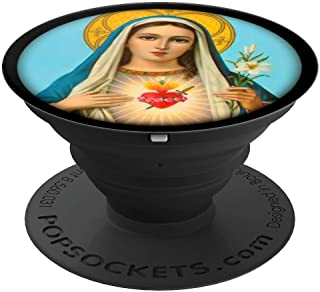 Virgin Mary Pop Socket - Catholic Sacred Heart Christian - PopSockets Grip and Stand for Phones and Tablets