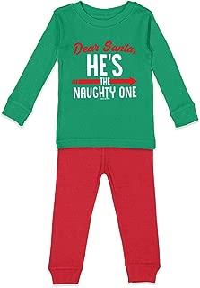 Dear Santa, He's The Naughty One - Christmas Kids Pajama Set