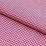 Hans-Textil-Shop Tela por metros Vichy a cuadros 2 x 2 mm, algodón, para casa rústica, decoración, costura o manualidades (rosa)