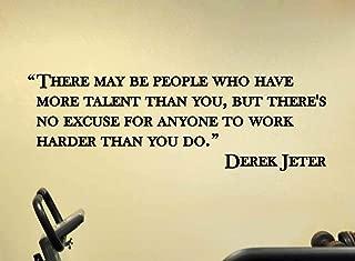 AdecalsNew Derek Jeter Yankees Baseball Wall Quote Sports Vinyl Sticker Decal