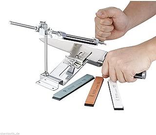 Knife Sharpener Professional Kitchen Sharpening System File Kit for Sharpening & Filing Chainsaws & Other Blades (Silver)