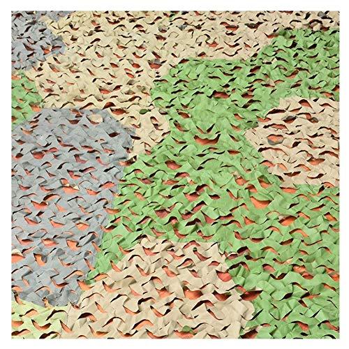 Red de protección solar, red de camuflaje, 3 colores, cosido para la jungla, para acampada, tamaño ajustable (color: A, tamaño: 1,5 x 2 m), a, 12x12m