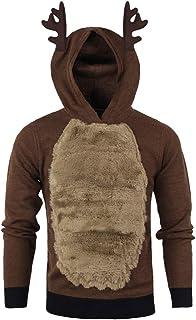 Clearance Forthery Christmas Hoodie Men's 3D Xmas Reindeer Fleece Hooded Sweatshirt