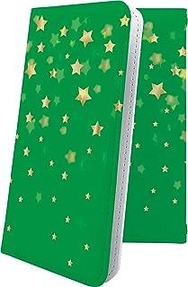 ZenFone4 Max ZC520KL ケース 手帳型 流れ星 緑 星 星柄 星空 宇宙 夜空 星型 ゼンフォン4 ゼンフォーン4 セルフィー 手帳型ケース おしゃれ zenfone 4 かっこいい