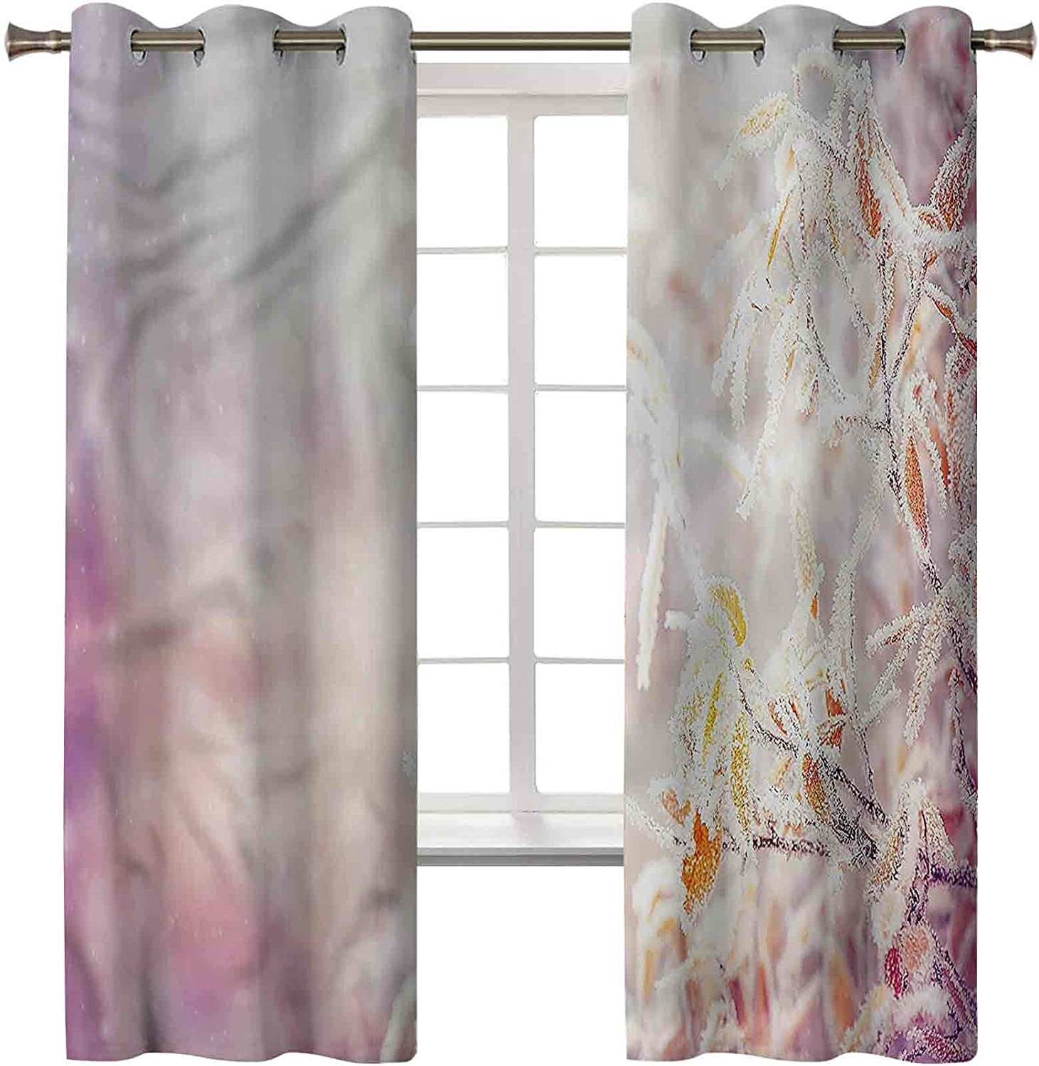 Winter Curtains for Bedroom Set of 2 Farm x 38W 45L Panels Inch Finally resale Cheap mail order shopping start