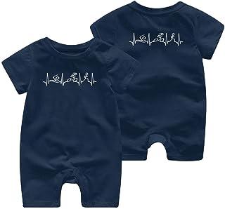 Ives Jean Baby ärmellose Bodysuits Triathlon Herzschlag Vintage Baby Boy Mädchen Kurzarm Strampler Jumpsuit Overall 0-24 Monate