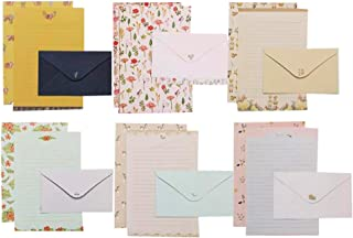 QingLanJian 48 Cute Writing Paper Letter Stationary Set with 24 Envelopes