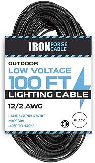 12/2 Low Voltage Landscape Wire - 100ft Outdoor Low-Voltage Cable for Landscape Lighting, Black
