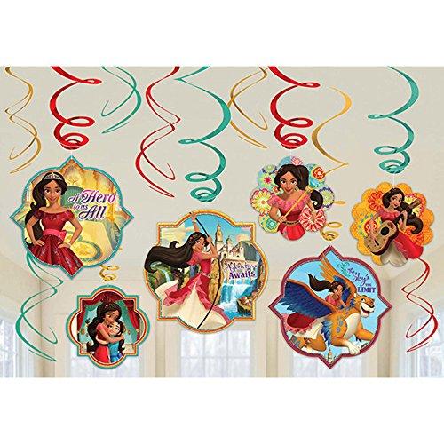 ELENA of Avalor Hanging Swirl Decorations (12pc)