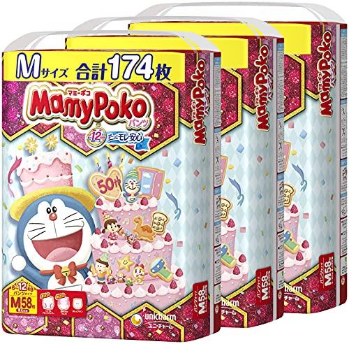 【ケース販売】マミーポコパンツMサイズ(6~12Kg)174枚(58枚×3)ドラえもん デザイン企画