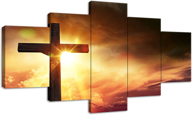 Urttiiyy Cheap SALE Start Christian Cross Wall Art Many popular brands Prints P Canvas Painting