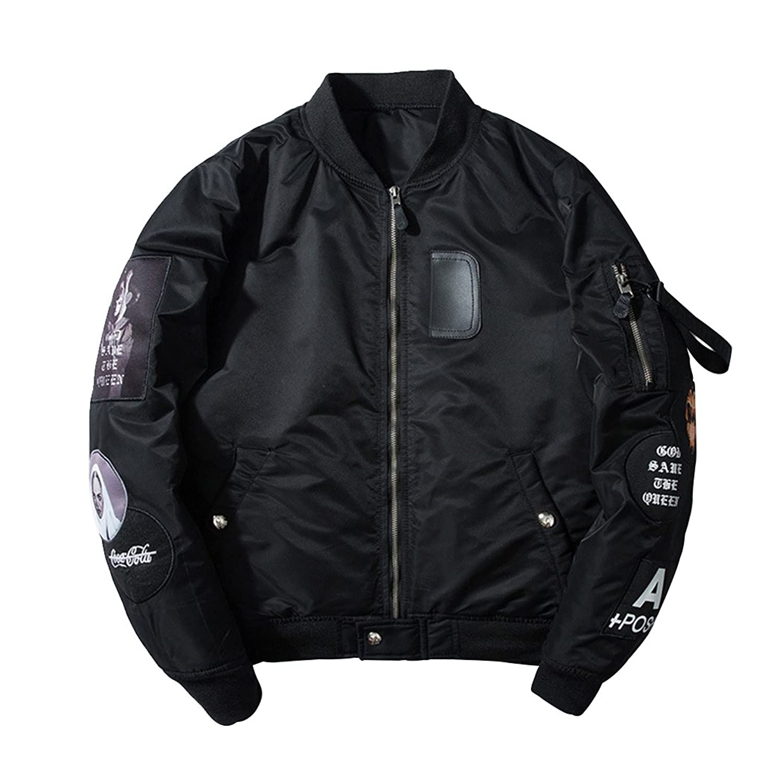 SemiAugust(セミオーガスト)メンズ フライトジャケット MA-1 ジャンパー エムエーワン 中綿 ミリタリー ジャケット 刺繍 ブルゾン アウター コート