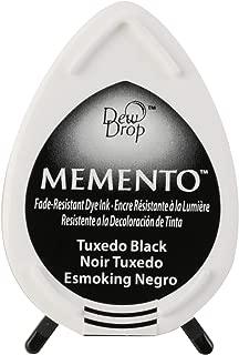 Tsukineko Memento Dew Drop Fade Resistant Inkpad of All Kinds, Tuxedo Black