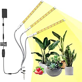LED Full Spectrum Grow Light for Indoor Plants, 108W Plant Grow Light Strips with Auto On/Off 3H/6H/12H Timer 6 Dimmable Levels for Seedling Growing Blooming Fruiting