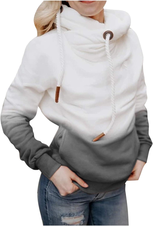 Hotkey Outstanding Women's Fashion Hoodies Hooded Gradient In a popularity Color Sweatshirt