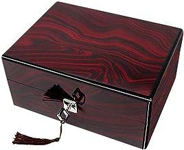 GPWDSN Houten Horloge Box - Sieraden Collectie Gift Display Box met Slot Massief Houten Patroon
