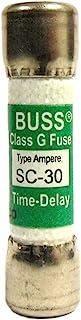 COOPER BUSSMANN SC-30 FUSE, 30A, 480V, TIME DELAY