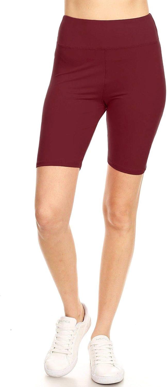 Leggings Mania Women's Regular/Plus Solid Bermuda Biker Shorts - Many Colors!