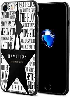 Hamilton-Musical-Logos iPhone 7 Case iPhone 8 Case Slim Protection Scratch Resistant Hard Back Cover Shock Absorbent TPU Bumper Case for Apple iPhone
