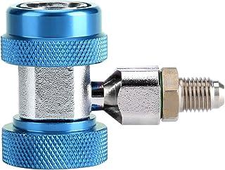 R134 A / C Bajo / Alto Conector rápido Adaptador de acoplamiento de aire acondicionado + Núcleo de válvula de extracción(AZUL)