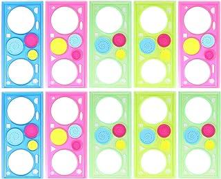 Artibetter Juego de Dibujo de Espirógrafo de 10 Piezas Conjunto de Arte en Espiral Herramienta de Dibujo Geométrico de Plá...