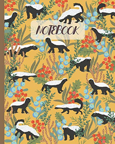"""Notebook: Honey Badgers in Forest - Lined Notebook, Diary, Track, Log & Journal - Cute Gift Idea for Kids, Teens, Men, Women (8""""x10"""" 120 Pages)"""