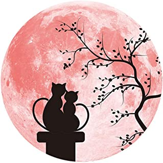 Romantic Couple Stickers 3D Moon Stickers Wall Decals for Valentine's Day Anniversary Glow in The Dark Moon Home Daily Roo...