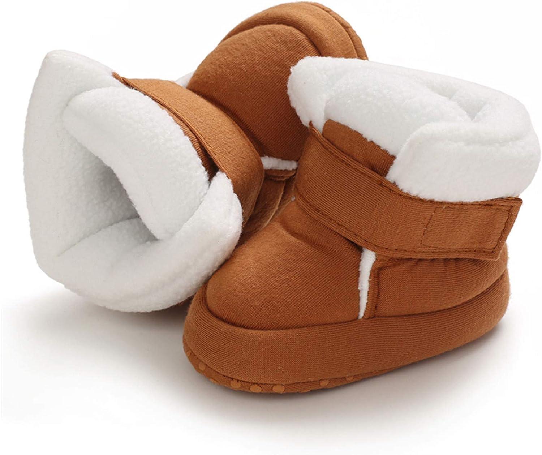 Newborn Baby Girls Prewalker Toddler Boots Premium Soft Anti-Slip Sole Warm Winter Boots for Infant Girls