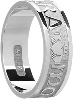 Men's Sterling Silver Mo Anam Cara Wedding Band Ring