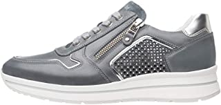 Nero Giardini P805241D Sneakers Femme en Cuir, Cuir Velours Et Toile