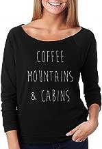SignatureTshirts Women's Raglan Tee Coffee Mountains & Cabins Cute Shirt