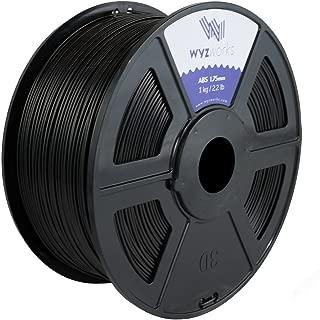 WYZworks ABS 1.75mm [ Conductive Black ] Premium 3D Printer Filament - Dimensional Accuracy +/- 0.05mm 1kg / 2.2lb + [ Multiple Color Options Available ]