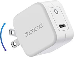 dodocool USB C Charger 20W Fast Charger Portable PD USB-C Wall Charger Foldable Power Adapter Compatible with New Apple iP...