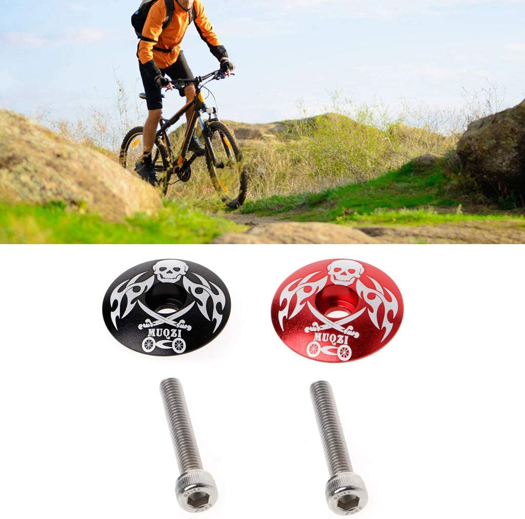YUZI Stem Top Cap Cover Headset Screws for Mountain Bikes