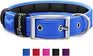 "metric usa ● Comfort Fit Pet Padded Dog Collar ● Red ● Blue ● Purple ● Black ● Small 7""-10"" ● Medium 10"" - 17"" ● Large 17' to 24"" ● 1"" Width ● So Comfortable Your Dog Will not Feel The Dog Collar on!"