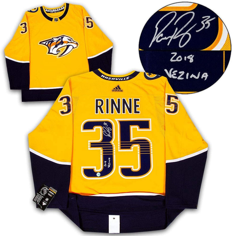 Pekka Rinne Nashville Predators Signed Adidas Authentic Jersey with 2018 Vezina