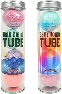 Bath Bomb Tube, Set Of 4, Bath Bombs For Kids, Bath Fizzies, Bath Bomb Gift Set, Natural Bath Bombs, Moisturizing Handmade Bath Fizzy