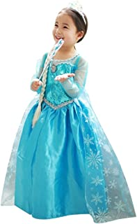 loel Princess Inspired Girls Snow Queen Party Costume Dress