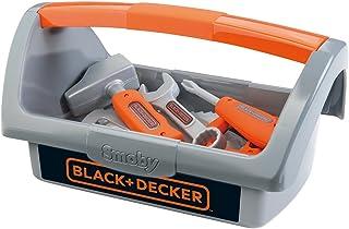 Smoby 7600360101 Black & Decker gereedschapskist, grijs