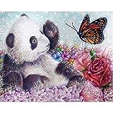 Diy diamante bordado mariposa panda ronda diamante pintura punto de cruz set regalo de vacaciones decoración del hogar 60x80cm
