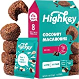 HighKey Snacks Keto Food Low Carb Snack Cookies, Coconut Macaroons - Gluten Free & No Sugar Added, Healthy Diabetic, Paleo, Dessert Sweets, Diet Foods - Cocoa