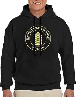 U.S. Army Command Sergeant Major Veteran Male Hoodie Fashion Adult Sweater Hooded Sweatshirt Big Pockets