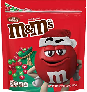 M&M's Milk Chocolate Red & Green Christmas Candy, Great for Holiday Baking, 38 Oz