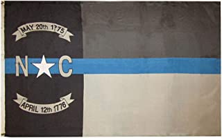 American Wholesale Superstore 3x5 North Carolina NC Police Memorial Blue Line 3'x5' Premium Quality Rough Tex 100D Oxford Polyester Flag