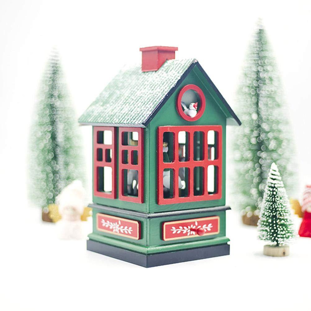 tomation Caja musical de la casa de la Navidad, caja de música de ...