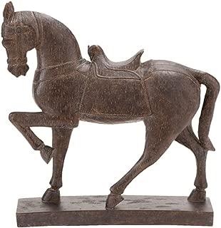Deco 79 Polystone Horse Decor, 15 by 14-Inch