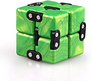 LiangCuber Qiyi Infinity Cube Fidget Toy,Hand Killing Time Transform Cubes Best for Stress and Anxiety Relief (Emerald Green)