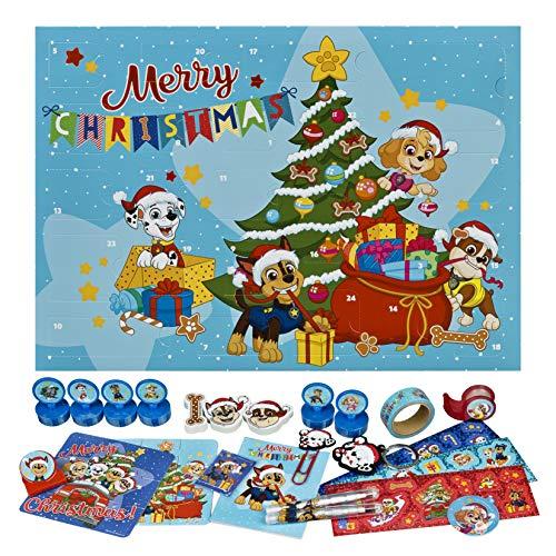 Undercover PPAT8024 Adventskalender für Kinder mit 24 Schreibwaren Überraschungen, Cooles Paw Patrol Motiv,...