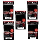 KMC Hyper Matte Sleeves Black ×5 Sets (5 Packs/total 400 Sheets) ( Japan Import ) Made in Japan by KMC