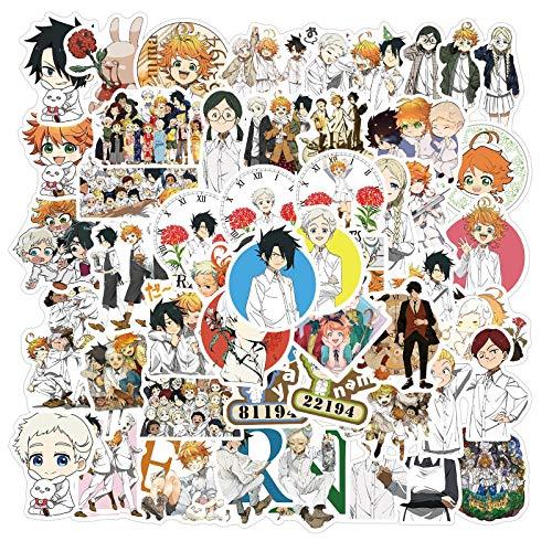 DSSJ 50 Pegatinas de Anime Promise Neverland, Maleta, Maleta, Funda para teléfono portátil, Pegatinas para iPad